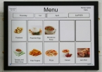 Menu Board with Frame and 60 Cards