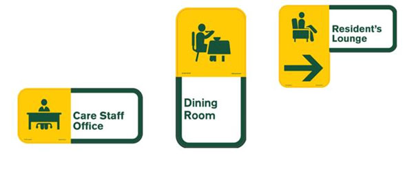 Examples of Visioncall signage