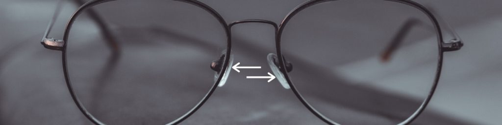 If glasses are sitting too high